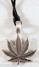Pewter Pendant p446 Cannabis Marijuana Leaf