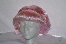 NEW Women Grease Pink Frenchie Sexy Adult 1950's Short Curly Hair Wig One Size