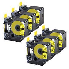 6pk For Dymo Rhino 42005200 Heat Shrink Tube 18058 Industry Label Tape 34x5