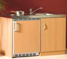 NEU Miniküche SINGLEKÜCHE Buche 1 m Pantryküche Büro Küche Herd Kühlschrank OVP