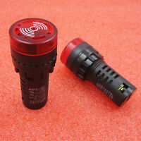 AD16-22SM  Light Lamp LED Flash Alarm Indicator with Buzze 220V 22mm Red