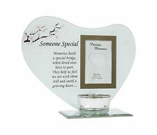 Someone Special Photo Frame Tea Light Holder Glass Memorial Ornament Plaque