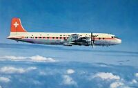 "Postcard SWISSAIR Airlines Aviation ""Douglas DC-6B"" Plane c1960s Airmail"