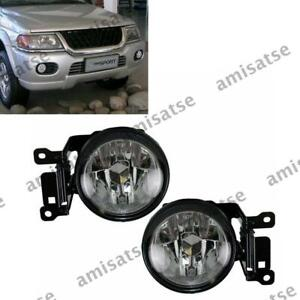 L&R Front Fog Light For Mitsubishi Montero Pajero Sport 2000 2001 2002 2004 A