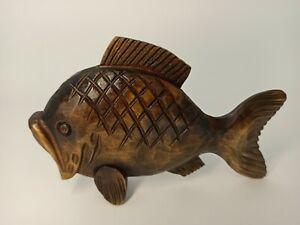 "Fish figurine 4"", Fish sculpture, Fish decor, Wooden fish, Fish art, Wood"