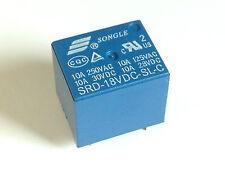 5x 18V Relais SRD-18VDC-SL-C | 250VAC 10A; 30VDC 10A | Leistungsrelais | 5 Stück
