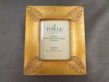 Towle Silversmiths Signature Frame & Album Natural Wood Gold Leaf NIB 25 Pages