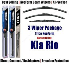 3-Pack Wipers Front & Rear - NeoForm - fit 2001-2005 Kia Rio - 16210/180/30130