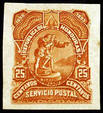 Honduras 25c Yellow-Brown 1892 Imperf Plate Proof Rare