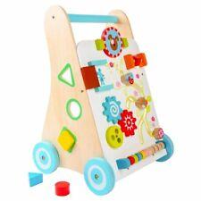 EcoToys Lauflernwagen Baby Walker Gehfrei Lauflernhilfe Steckspiel Holz