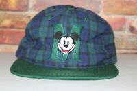 Mickey Mouse Vintage Embroidered Snapback Hat, Walt Disney, Deadstock With Tags,