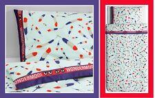 IKEA Twin GLÖDANDE Red White Blue Feather Duvet Cover Pillowcase Glodande Wonder
