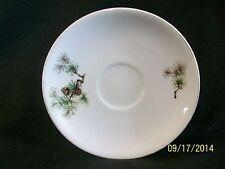 Vintage Grantcrest Porcelain Pine Pattern Saucers (3)