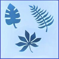 Flexible Stencil *TROPICAL LEAVES* Leaf Painting Card Making Crafts 10cm x 10cm