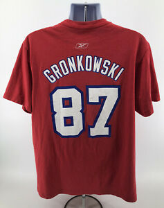 Vintage NFL New England Patriots Rob Gronkowski T Shirt Mens Sz XL Reebok Red