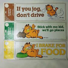 Vintage Garfield Bumper Sticker New Old Stock Lot of 3  Dated 1978