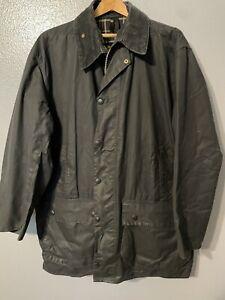Barbour Border Wax Jacket mens Coat Size 46/117cm