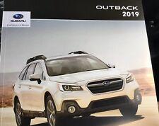 """2019 SUBARU OUTBACK 22-page Original """"CANADIAN"""" Sales Brochure"""