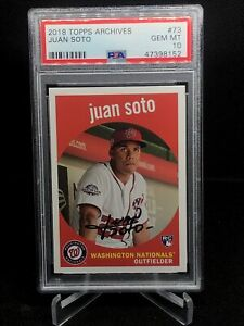2018 Topps Archives #73 Juan Soto Rookie RC Gem Mint PSA 10