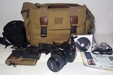 CANON EOS 30D Digital SLR Camera with lens kit. Less than 9000 shots of use