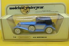 Matchbox Models of yesteryear Y-16 1928 Mercedes SS Coupe in Blue and Silver