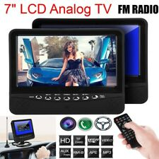 7 inch Car LCD Portable Analog PAL/NTSC/SECAM Monitor AV Port FM Radio+TV Stand