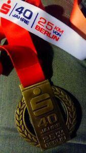 Finisher Medaille 40te. 25 km von Berlin /S25 vom 10.10.2021