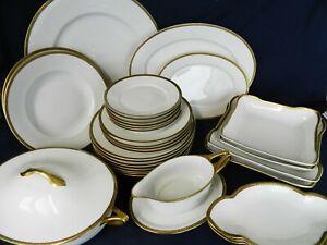 Vintage Rosenthal China Botticelli White/Gold Platters Dinner Side Gravy Choose