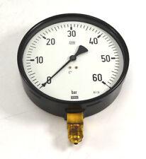 """WIKA Ø160mm Manometer senkrecht 0-60 bar G 1/2"""" NEU OVP"""