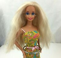 1976 Mattel Twist N Turn Barbie Doll Rooted Long Blonde Hair