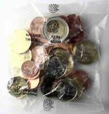 Italien Euro Starterkit 2002 Erste Euromünzen 1 Cent bis 2 Euro im Beutel