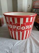 New listing Certified International Ceramic Popcorn Bowl Red Stripped ceramic large