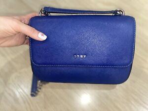 dkny bag cross body bright blue