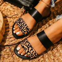 Womens Flat Slippers Ladies Slip On Sandals Open Toe Casual Summer Shoes Fashion