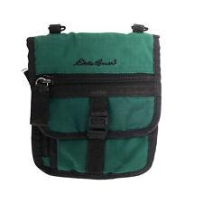 """Eddie Bauer travel wallet green ripstop nylon 6x7"""" closed 12x6 open bbx6"""