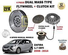 Per Vauxhall Opel Zafira 1.7 il CDTI 2008 - > VOLANO + KIT FRIZIONE + CILINDRO slave
