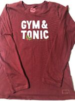 Life Is Good Womens Crusher T Shirt Long Sleeve Gym And Tonic Red XS