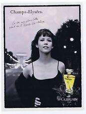 """PUBLICITE ADVERTISING 094 1996 GUERLAIN """"Champs Elysée"""" avec Sophie Marceau"""