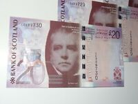 Bank Of Scotland, £20 Banknote, New, Uncirculated Condition 19th January 2009
