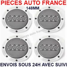 4 Cache Moyeu Centre Roue Enjoliveur Logo insigne Pour Audi 148MM 4B0601165A