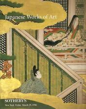 Sotheby's Japanese Works of Art Auction Catalog 1996