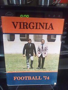 1974 University Virginia Football Media Guide UVA Free Shipping