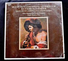 MOZART FLUTE CONCERTO/BACH SUITE-CLAUDE MONTEUX, LONDON SYMPHONY FLUTE SEALED LP