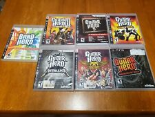 Lot of 7 Guitar Hero Games (Sony Playstation 3) PS3 Tested Fast Shipping