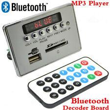 Wireless Car Bluetooth Kit MP3 Decoder Board Audio Module USB SD TF FM Radio 12V