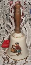 Gorham Norman Rockwell Fine China Bell A Boy Meets His Dog 1979 With Tag Lovely
