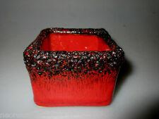 rot schwarze Fat Lava Viereck Schale Designklassiker 70er Kreutz,Roth,Jopeko