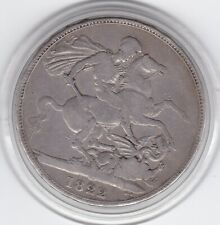 1822   King  George   IV   Large  Crown  (5/-)   Sterling  Silver  Coin