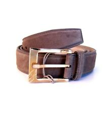 J-2727954 New Brioni Taupe Suede Buckle Belt Size 42 Fits 40