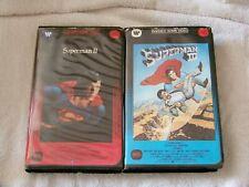 SUPERMAN II & III VHS Set, Good Shape